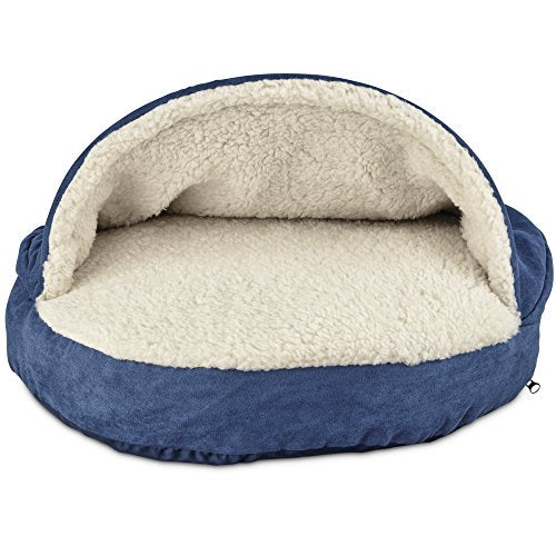 Canopy Sherpa-Lined Cat Bed