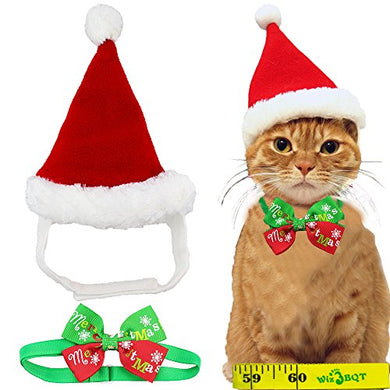 Festive Christmas Santa Claus Hat for Cats, Soft Material