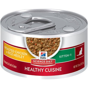 Kitten Healthy Cuisine Roasted Chicken & Rice Food by Hill's