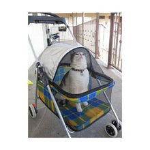 New BestPet Yellow Plaid Posh Pet Stroller for Dogs&Cats