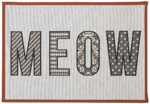 MEOW Tapestry Placemat for Pet Feeding Station by PetRageous
