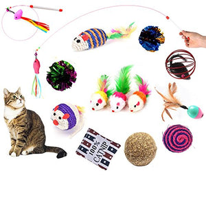 14-Pack of Interactive Cat Toys