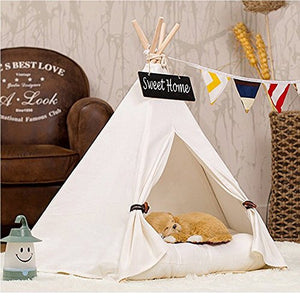 Cat Tent with Pinewood Pole