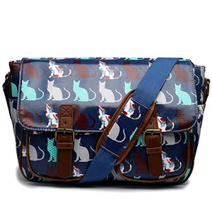 Miss Lulu Oilcloth Prints Satchel Messenger Shoulder School Bag