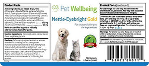 Pet Wellbeing - Certified organic  Nettle-Eyebright Gold for Cats