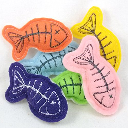 Stuffed Fish Catnip Toys with Bright Colors