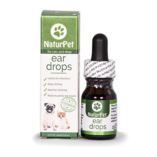NaturPet Ear Drops for Pets, Useful for Infections