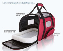 SunShack Pet Carrier with Cushioned Fleece Pad