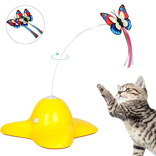 360 Degree Rotation Butterfly Teaser Cat Toy