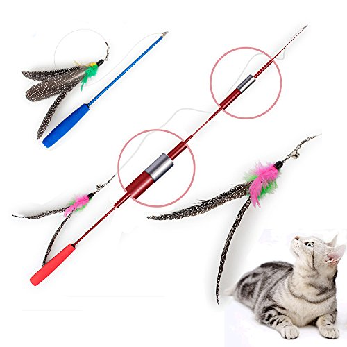 Feather Teaser Cat Toy with Safe Material