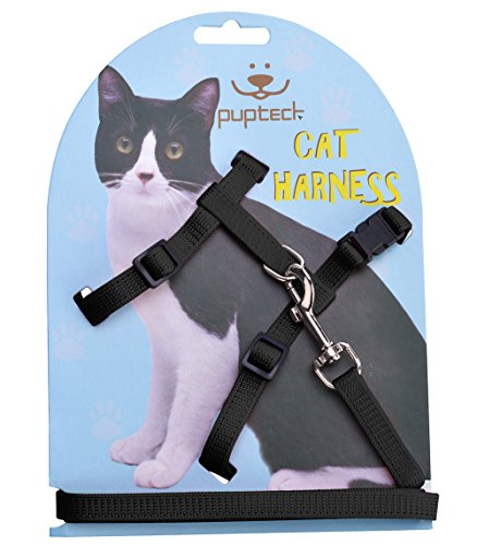 Adjustable Cat Harness Nylon Strap Collar, For Cats under 12 pounds