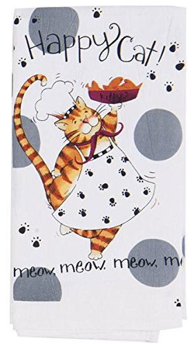 Happy Cook Cat Flour Sack Towel, Soft & durable