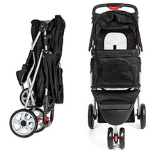 3-Wheel Folding Pet Stroller with 2 Cup Holders