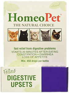 HomeoPet Feline Digestive Upsets, 450 Drops per Bottle