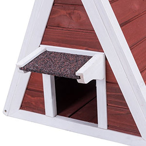 "Weatherproof Cat House Red Condo Shelter, 30""Hx28""Wx30""D"