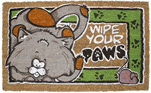 Coir Coco Fiber Non-Slip Doormat: Wipe Your Paws