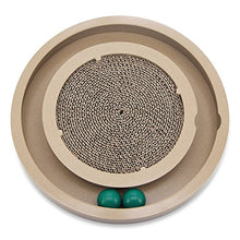 Natural Wood Scratch and Spin Cat Toy