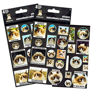 Grumpy Cat Stickers for Scrapbooks, Journals and Albums