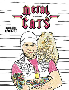 Metal Cats Coloring Book by PowerHouse