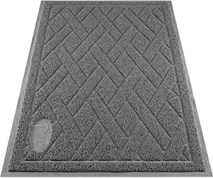 Pawkin Cat Litter Box Mat, Easy to Vacuum