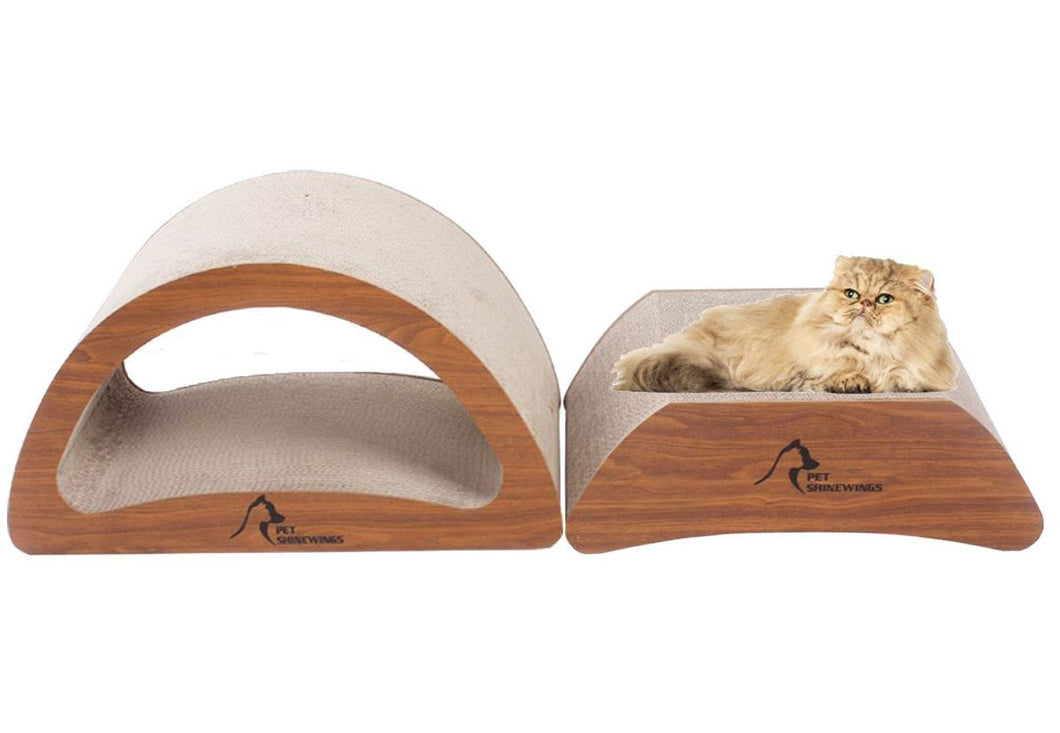 100% Recycled Organic Cat Scratcher Lounge with Catnip