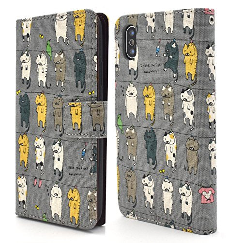 Japanese Cotton Hanging Cats Print iPhone X Case