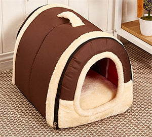Brown Winter Pet House