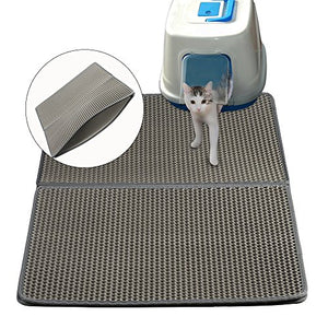 Super Effective Dual-Layer Cat Litter Trapping Mat,