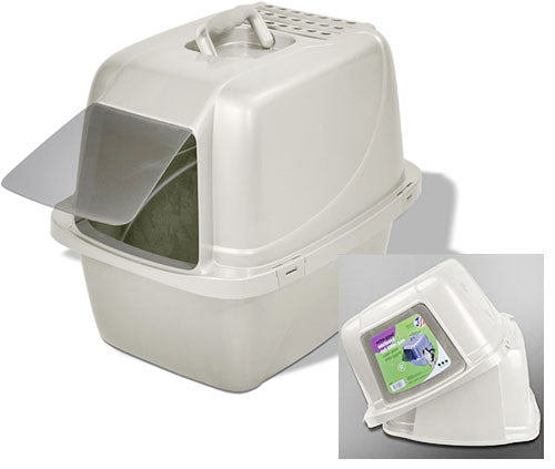 Odor Control Enclosed Cat Pan by Van Ness, Eliminates Litter Scatter
