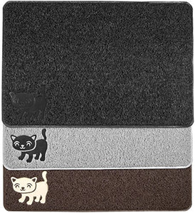 Cat Litter Mat by Smiling Paws Pets, Extra Thick and Durable