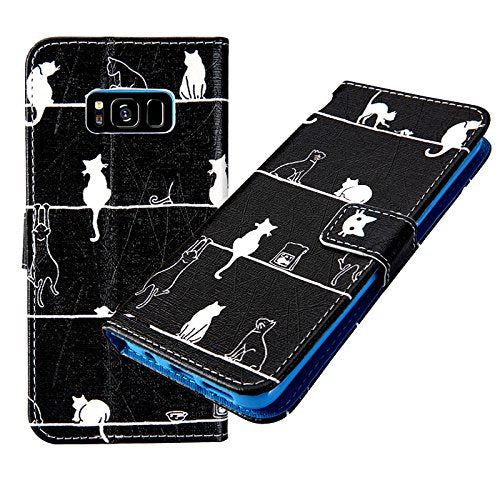 Cat Drawing Galaxy S7 Phone Case, Blue Inside