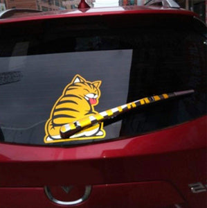 "Car Wiper Decal Cat Sticker, 7.48""  x 9.84"""