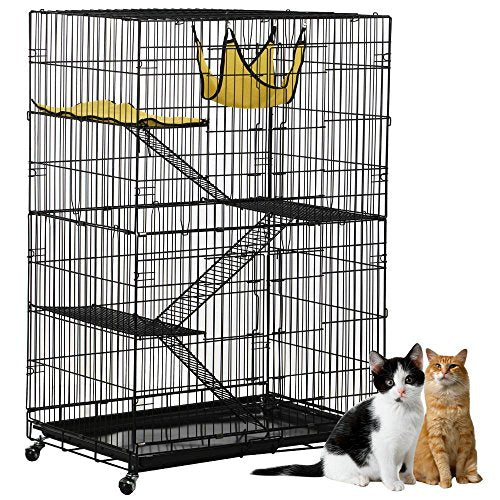 4-Tier Cat Playpen with 3 Ramp