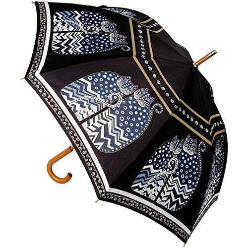 `Polka Dot Cats` Stick Umbrella by Laurel Burch, 100% Pongee Fabric