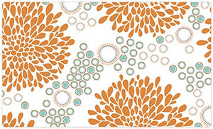 Rejuvenation Orange & Turquoise Pet Placemat by Drymate