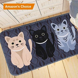 Three Cat Indoor/Outdoor Doormat, Polyester Fiber