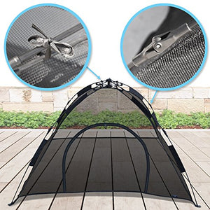 Portable Outdoor Cat Tent, Simply unfold and pull on the top cord