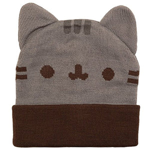 Pusheen Beanie Hat with Ears, Gray