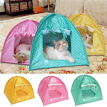 Yellow Fabric Bed Tent for Cats