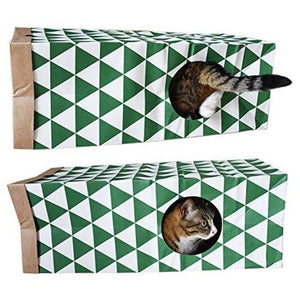 Intricate Patterned Cat Tunnel Toy