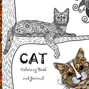 Cat Coloring Book: A Calming and Creative Coloring Collection of Cats and Kittens, 100 pages