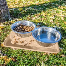 Premium Pet Food Tray by Easyology, Beige