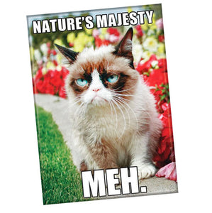 "Grumpy Cat Magnet ""Nature's Majesty. Meh."""