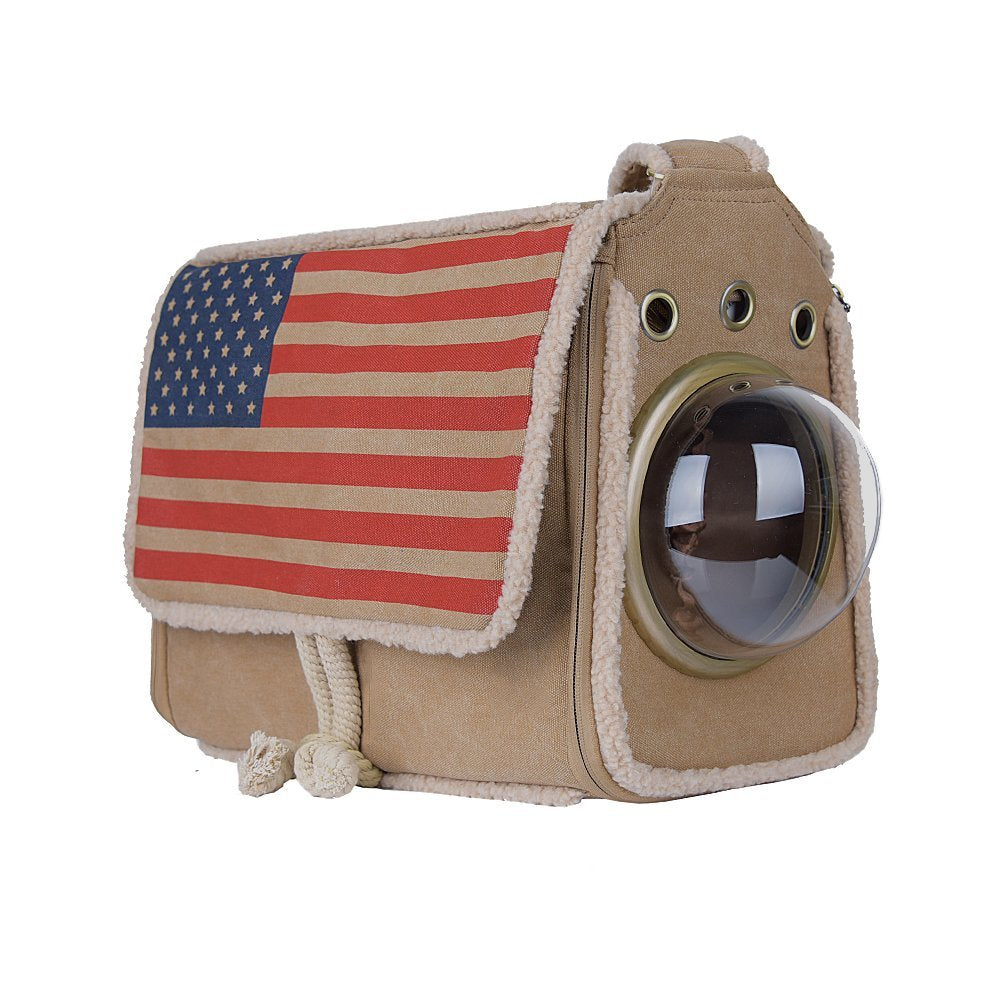 Bubble Pet Carriers with American Flag
