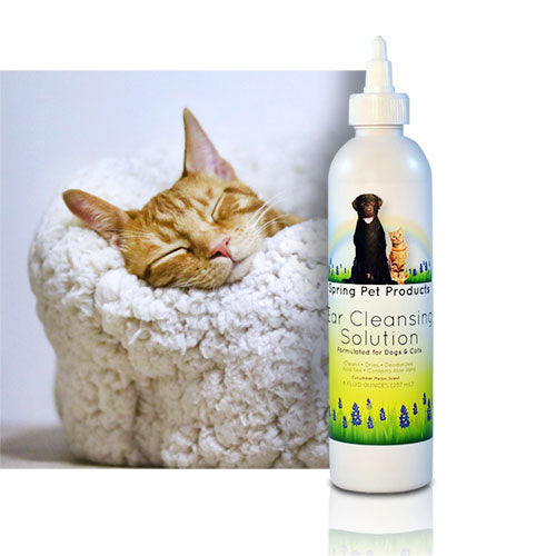 Spring Pet Ear Cleaner for Dogs and Cats, Cucumber Melon Scent