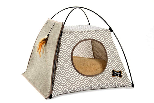 Cat Tent with Attached Scratcher