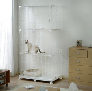 IRIS 3-Tier Wire Pet Cage, White