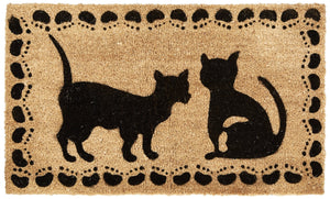 Cat Design Coco Doormat by Kempf, Anti-Slip Rubber