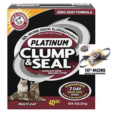 Arm & Hammer Clump & Seal Platinum Litter, Multi-Cat
