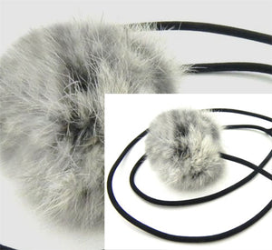 Soft, Bouncy Ball Rabbit fur String Cat Toy